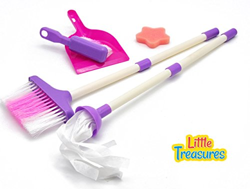 Little Treasures Mommy's Little Helper Toy Mini Sized Cleaning Play (Baby Broom)
