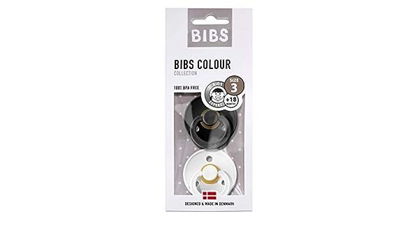- Chocolate//Sand BIBS Colour Chupetes Pack 2 Tama/ño 2 Sin BPA Caucho Natural 6-18 Meses