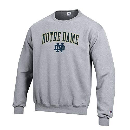 Elite Fan Shop Notre Dame Fighting Irish Crewneck Sweatshirt Varsity Gray - L - Notre Dame Irish Crew Sweatshirt