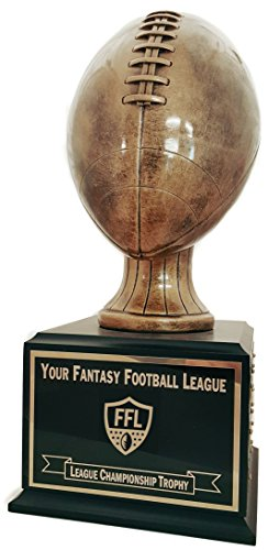 Premier Awards 18 Year Antique Gold Resin Fantasy Football Trophy P7000