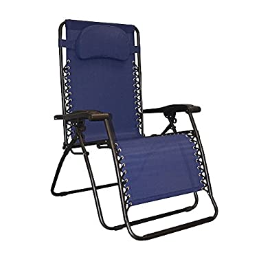 Caravan Sports Infinity Oversized Zero Gravity Chair, Blue