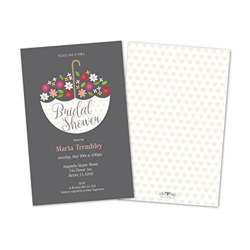 Bridal Shower Invitations Umbrella (Set of 10 Umbrella Shower Bridal Personalized Bridal Shower Inviations)