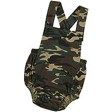 Jumpsuit,BeautyVan 2017 New Fashion Cartoon Newborn Infant Baby Camouflage Sleeveless Romper Jumpsuit (12M, Camouflage)