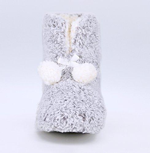 Scarpette Di Stoffa Pelose Con Bottoni In Maglia Di Lana Imbottita Per Donna. Comodo E Lussuoso! Stivali
