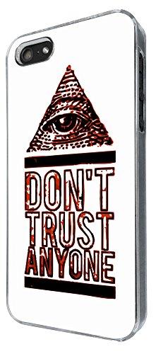 708 - Don't Trust Anyone Pyramid Eye Design iphone 4 4S Coque Fashion Trend Case Coque Protection Cover plastique et métal