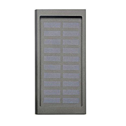 20000mAh Solar Metal Power Bank (Black) - 6