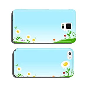 Green flower meadow cell phone cover case Samsung S6