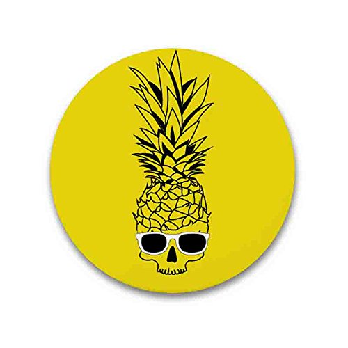 Drinking Beer Bottle Opener Multi-function Refrigerator Magnet - Pineapple Skull Wear (Coors Light Stained Glass)