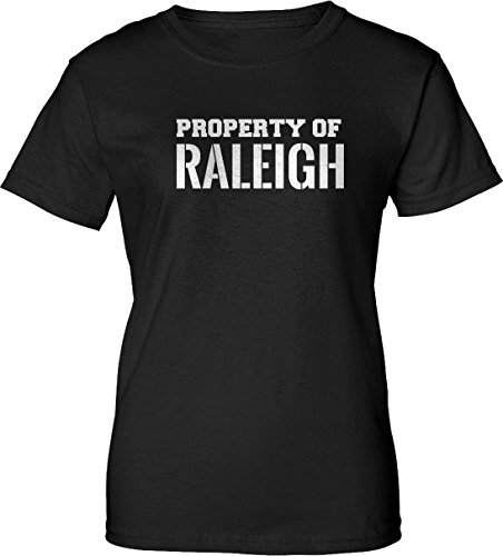 Property of RALEIGH Womens Ladies Black T-Shirt e2 - Limited Raleigh Clothing