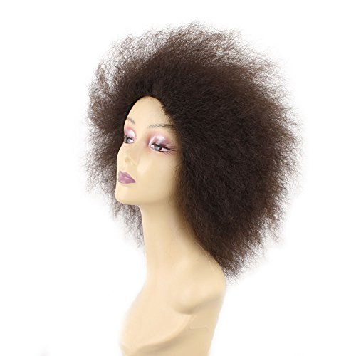 Search : 6.5 Inch Short Synthetic Afro Kinky Curly Hair Wigs For Black Women Afro Wigs African American Braided Wigs Afro Kinky Straight Synthetic Wigs (1piece, 4#)