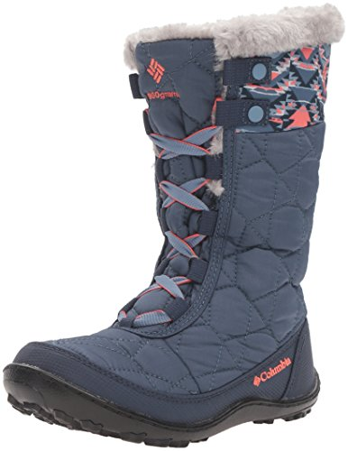 Columbia Youth Minx Mid II Waterproof Omni-Heat Unisex-Kinder Trekking- & Wanderstiefel Blau (Dark Mountain/Melonade 478)