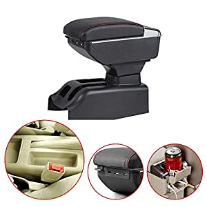 For Bora Golf 4 Car Center Console Armrest Box Interior Fittings Storage Organizer with Cup Holder & Ashtray & 7 USB…