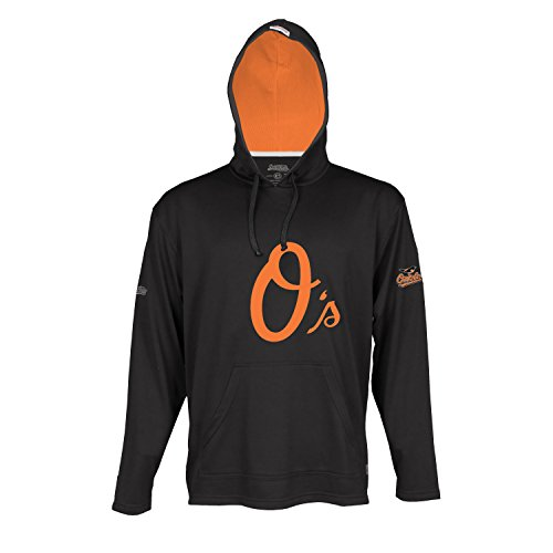 MLB Baltimore Orioles Men's Lightweight Athletic Hoody, Medium, Black