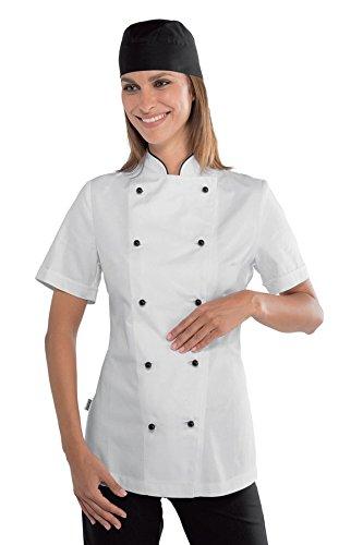 Antipanico Isacco Lady Giacca Bottoni Manica m² Gr Chef Cotone nero Tessuto 190 26012 S Bianco 100 Lunga Bianco HS4cqrvf4