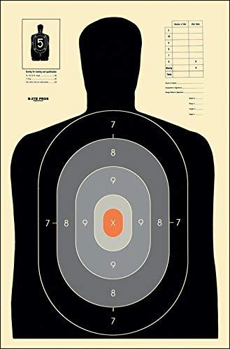 Action Target - B-27E Pros Paper Target - 100 Pack - Paper Targets, Shooting Targets