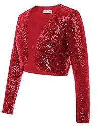Sequin Jacket Long Sleeve Open Front Blazer