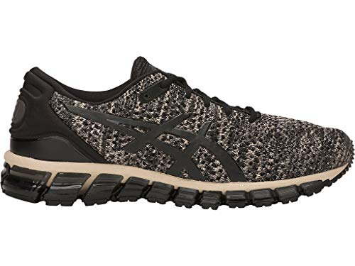 ASICS Men's Gel-Quantum 360 Knit 2 Running Shoes, 9.5M, Feather Grey/Black