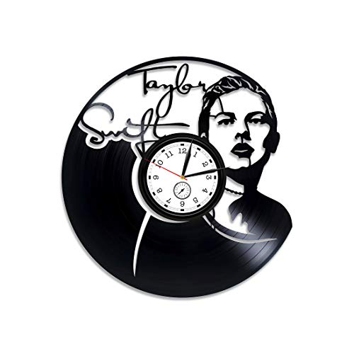 Kovides Taylor Swift Vinyl Record Wall Clock Taylor Swift Xmas Gift Country Pop Clock Taylor Swift Wall Clock Modern Taylor Swift Vinyl Wall Clock New Year Gift Look What You Made Me Do Vinyl Clock