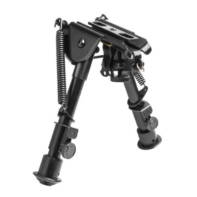 M1SURPLUS Tactical Compact Height Bipod with Adjustable Legs and Integral Sling Swivel Stud Mount + Mounting Adapters Fits Ruger SR22 10/22 17/22 M77 American Minii4 Mini30 Gunsite Scout Ranch Rifles