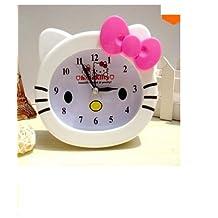 Kids Alarm Clock Cute Cartoon Character Quartz Movement White