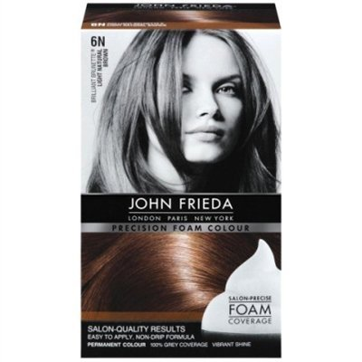 John Frieda Precision Foam Colour 6N Light Natural Brown - Pack of 6 by John Frieda
