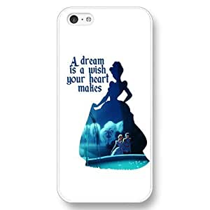 Diy iphone 5 5s case Customized Disney Princess Cinderella White Hard PlasticIphone 5 5S