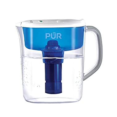 PUR 11 Cup Ultimate Pitcher with LED Indicator, Clear/Blue