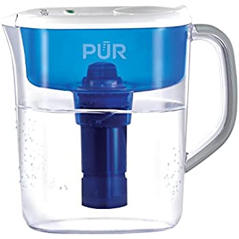 PUR 11 Cup Ultimate Water Filtration Pitcher with LED Indicator, Clear/Blue