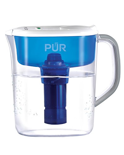 PUR 11 Cup Ultimate Water Filtration Pitcher with LED Indicator, Clear/Blue by PUR