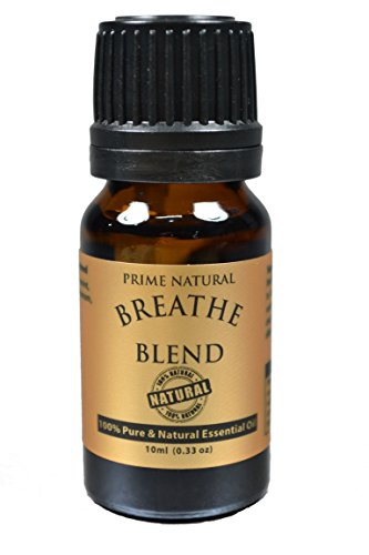 Breathe Essential Oil Blend 10ml - 100% Natural Pure Undiluted Therapeutic Grade for Aromatherapy, Scents & Diffuser - Sinus Relief, Allergy, Congestion, Cold, Cough, Headache, Respiratory Problems