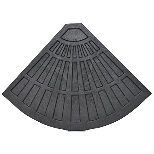 Resin Base Fan Shape L470 X D640 X H42MM 14KGS Patio Umbrell