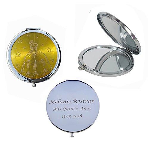 Mis Quince Años (12 PCS) Sweet 15, Sweet Sixteen, Quinceañera, Mis 15 Años Compact Mirror (Yellow) by WE