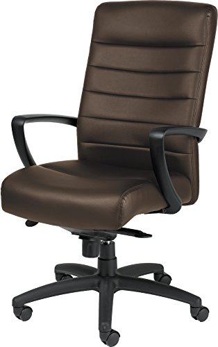 Manchester Leather Office Chair - Eurotech Seating Manchester LE150-BRNL High Back Leather Chair, Brown
