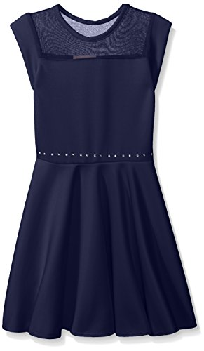 embellished blue skater dress - 7