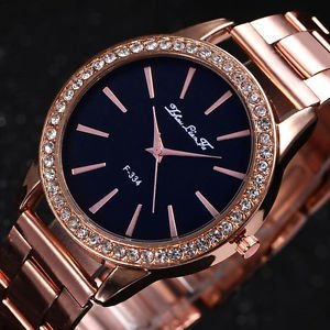 c038faa889f Image Unavailable. Image not available for. Colour  SLB Works Brand New  Fashion Rose Gold Tone Ladies Watches Women Softech ...