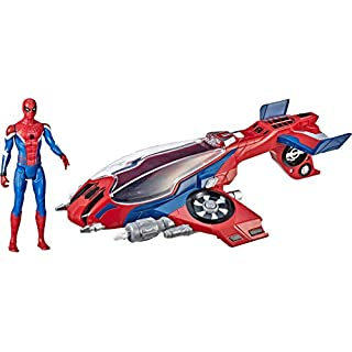 """Spider-Man, Far From Home Spider-Jet with – Vehicle Toy & 6"""" -Scale Action Figure"""