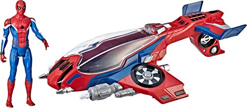 Spider-Man, Far From Home Spider-Jet with – Vehicle Toy & 6″ -Scale Action Figure