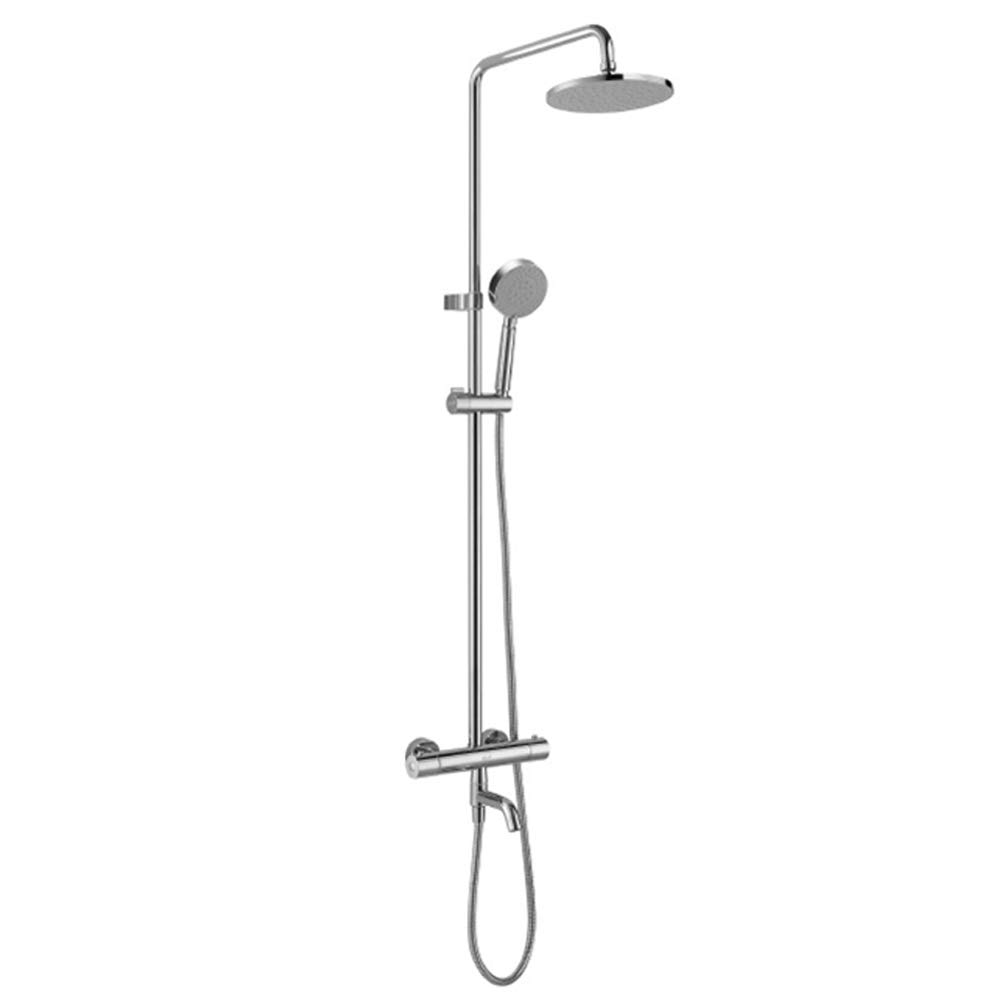 DWhui Thermostatic Shower System, Adjustable Slide Bar, Polished Spray Painting Shower Shower Head Wall Mounted