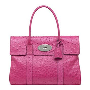 a16e8a5a76d9 Amazon.com   Mulberry Bag Bayswater Clutch Ostrich Hot Pink   Cosmetic Tote  Bags   Beauty