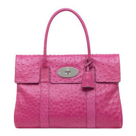 c9aaf48e0e ... top quality mulberry bag bayswater clutch ostrich hot pink 1196d 75be7