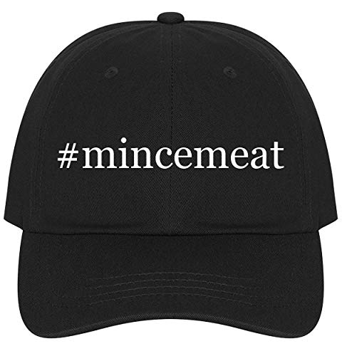 The Town Butler #mincemeat - A Nice Comfortable Adjustable Hashtag Dad Hat Cap, Black