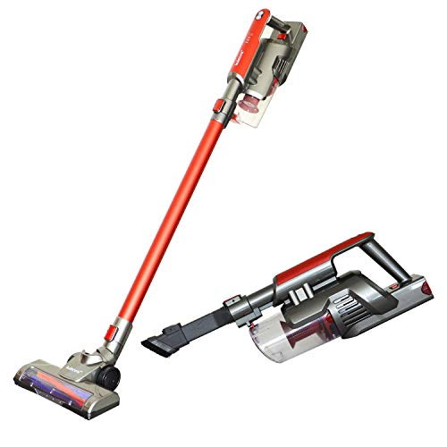 Cordless Vacuum Cleaner Handheld 2 in 1 Stick Vacuum with Rechargeable Lithium-ion Battery for Home, Car, Pet Hair, Hardwood Floors by KulecvniKulecvni Handheld Cordless Stick Vacuum Cleaner, Bagless
