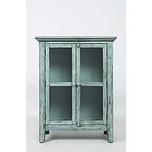 "Jofran: , Rustic Shores, Accent Cabinet, 32""W X 15""D X 42""H, Vintage Blue Finish, (Set of 1)"