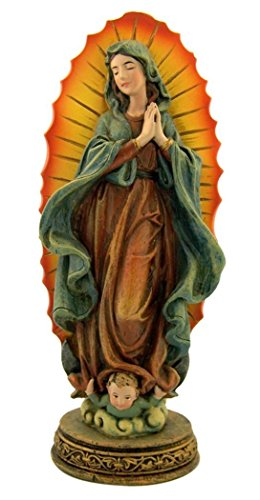 The Blessed Virgin Mary Our Lady of Guadalupe Resin Statue, 7 Inch
