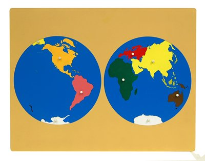 Buy Montessori World Puzzle Map With Labeled And Unlabeled Control