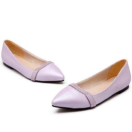 Piatto Scarpe Scivolare Comfort RAZAMAZA Su Purple Tacco Donna Con vxFR7qRt