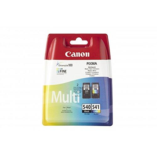 Canon PG-540/CL-541 Multi pack - Cartucho de tinta para impresoras (Negro, Cian, Magenta, Amarillo, Canon PIXMA MG2150,...