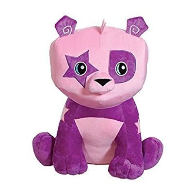 Animal Jam Cute Adorable Bright Purple & Pink Panda Bear Stuffed Animal with Star Patch Design 10 Inches - Super Soft Cuddly Plush Toy for Kids: Toys & Games