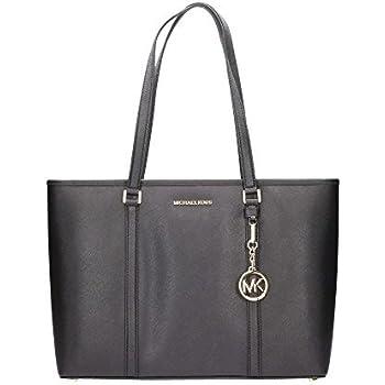 2938fe7315bf Amazon.com  Michael Kors Large Sady Carryall Shoulder Bag (Black)  Shoes