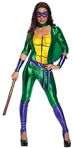 Secret Wishes Women's Teenage Mutant Ninja Turtles Donatello Costume Jumpsuit, Multi, (Ninja Turtles Costumes Women)